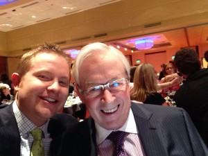 Mike and I at the Damon Runyon Dinner in March 2014.