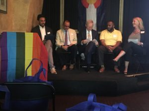 The panel at Pride Energy, co-hosted by the Colorado Petroleum Council and One Colorado on June 14, 2016.